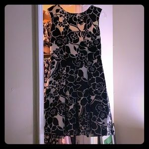 Size 6 black and white dress